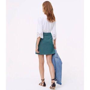 LOFT Skirts - LOFT Cotton Jacquard Knit Mini A-line Skirt
